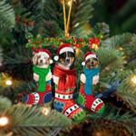 Australian Shepherd Christmas Socks Ornament