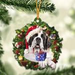 St. Bernard Christmas Gift Acrylic Ornament
