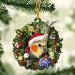 Cockatiel Christmas Gift Acrylic Ornament