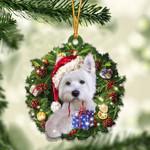 Westie Christmas Gift Acrylic Ornament