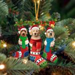 Gordon Setter Christmas Socks Ornament