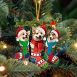 Welsh Corgi Christmas Socks Ornament