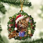 Bengal Cat Christmas Gift Acrylic Ornament