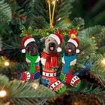 Bouvier Des Flandres Christmas Socks Ornament