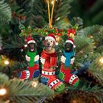 Labrador Retriever Christmas Socks Ornament