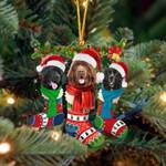 Newfoundland Christmas Socks Ornament
