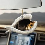 Rat Terrier sleeping angel Rat Terrier lovers dog moms ornament