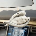 Samoyed sleeping angel Samoyed lovers dog moms ornament