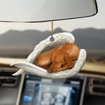 Vizsla sleeping angel vizsla lovers dog moms ornament