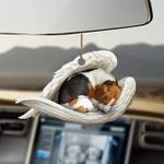 Beagle sleeping angel beagle lovers dog moms ornament