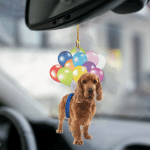 Cocker Spaniel fly with bubbles dog hanging ornament-2D Effect