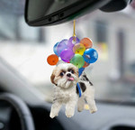 Shih Tzu Dog Fly With Bubbles Car Hanging Ornament-2D Effect