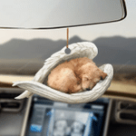 Goldendoodle sleeping angel goldendoodle lovers dog moms ornament