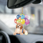 New Arrival Poodle fly with bubbles dog hanging ornament-2D Effect