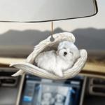Maltese sleeping angel maltese lovers dog moms ornament