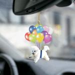 Bichon Frise fly with bubbles dog hanging ornament-2D Effect