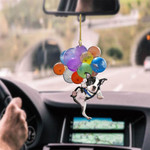 Boston Terrier Dog Fly With Bubbles Car Hanging Ornament-2D effect