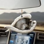 Greyhound sleeping angel greyhound lovers dog moms ornament