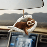 Sloth sleeping angel sloth lovers dog moms ornament
