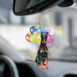 Doberman fly with bubbles dog hanging ornament-2D Effect