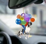 Cute Great Dane Dog Fly With Bubbles Car Hanging Ornament-Flat 2D Effect