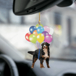 Bernese Moutain fly with bubbles dog hanging ornament-2D Effect