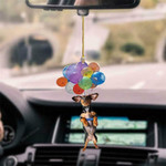 Dachshund Dog Fly With Bubbles Car Hanging Ornament-2D Effect