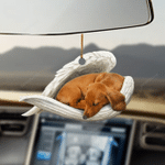 Dachshund sleeping angel dachshund lovers doxie lovers dog lovers ornament