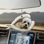 Dandie Dinmont Terrier Sleeping Angel Dog Moms Ornament