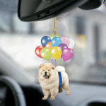 Chow Chow Dog Fly With Bubbles Dog Hanging Ornament-2D Effect