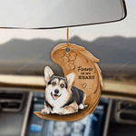 Tricolor Corgi Forever In My Heart Hanging Ornament-2D Effect