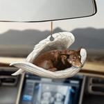 Australian Kelpie Sleeping Angel - Hanging Ornament