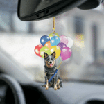 Australian Cattle Dog Fly With Bubbles Dog Hanging Ornament-2D Effect