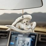 Chinese Crested Powderpuff Sleeping Angel Dog Moms Ornament