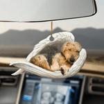 Airedale Terrier Sleeping Angel - Hanging Ornament
