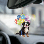 Bernese Moutain Puppy Fly With Bubbles Dog Hanging Ornament-2D Effect