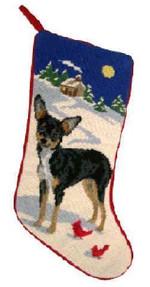 Chihuahua Christmas Stocking (Tri-Color)