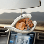 Rhodesian Ridgeback sleeping angel Rhodesian Ridgeback lovers dog moms ornament