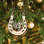 Custom Hoofprints Personalized Horse'S Name Christmas Ornament
