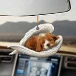 Cockapoo Sleeping Angel - Hanging Ornament