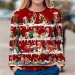 Basset Hound - Snow Christmas - Premium Sweatshirt