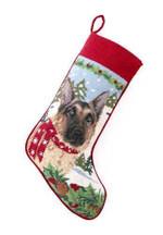 German Shepherd Christmas Stocking (1)