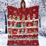 Australian Silky Terrier - Christmas Blanket