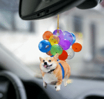 Corgi fly with bubbles dog hanging ornament-Flat 2D Effect