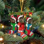 Kai Ken Christmas Socks Ornament