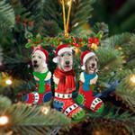 Irish Wolfhound Christmas Socks Ornament