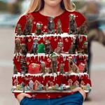 Chocolate Labrador Retriever - Snow Christmas - Premium Sweatshirt
