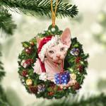 Sphynx Cat Christmas Gift Acrylic Ornament