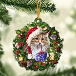 Norwegian Forest Cat Christmas Gift Cat Acrylic Ornament