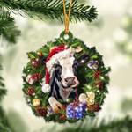 Cow Christmas Gift Acrylic Ornament